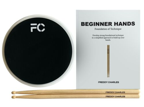 Freddy Charles Signature Drum Practice Pad with Sticks, eBook and Video