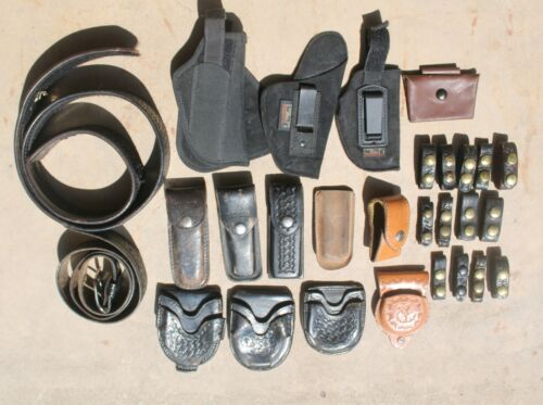 Vintage Police Leather Equipment Lot of 28