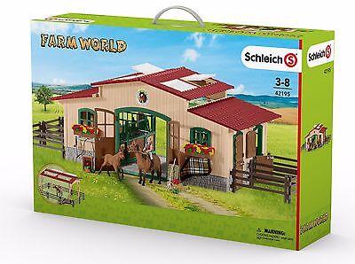 Schleich 42195 Pferdehof / Pferdestall / Reiterhof / Reitstall mit Zubehör