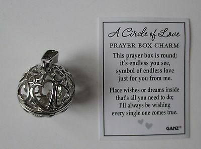 H A Circle Of Love Prayer Box Charm Pendant Holds Wishes Dreams Message Ganz