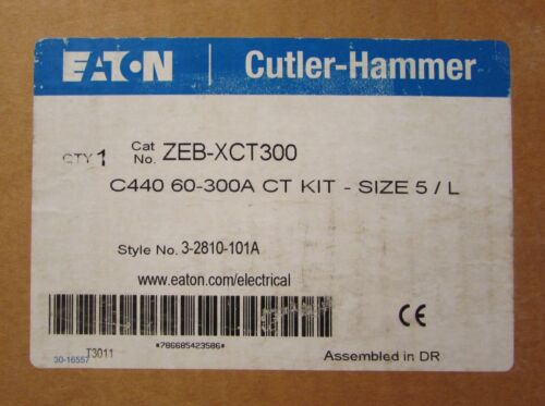 EATON CUTLER HAMMER ZEB XCT300 C440 Size 5 CT Overload Assembly 3 2810 101A