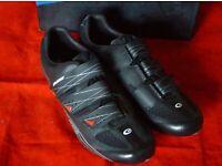 US 8.5 Exustar E-SR463 Black Mens Road Cycling Shoes Size 42