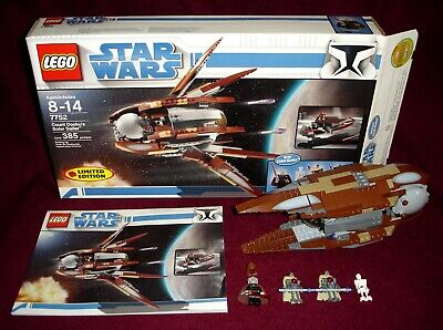 2009 LEGO STAR WARS 7752 COUNT DOOKU'S SOLAR SAILER LIMITED EDITION COMPLETE!