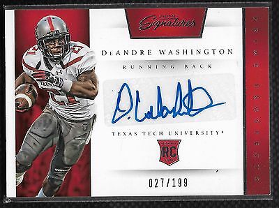 2016 Prime Signatures Deadndre Washington Prime Prospects Auto Rc   27 199