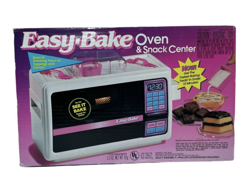 Vintage 1994 Easy Bake Oven by Kenner With Original Box and Accessories Working