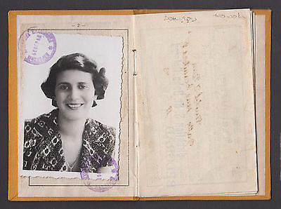 SERBIA - State Railways - Pensioner ID card 1943 -WORLD WAR II GERMAN OCCUPATION