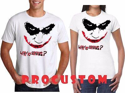 Why So Serious Scary Face Halloween Matching funny cute T-Shirts Youth Adult