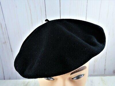 1950s Mens Hats | 50s Vintage Men's Hats Vintage 1950s Pure Wool French Beret Hoquy DeLuxe Black Unisex WPL 10888 $45.18 AT vintagedancer.com