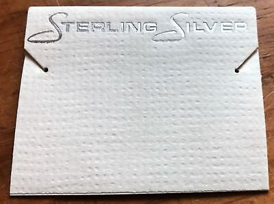 50ct Lot Sterling Silver Cream Plastic Holder Hanging Earrings Display Cards