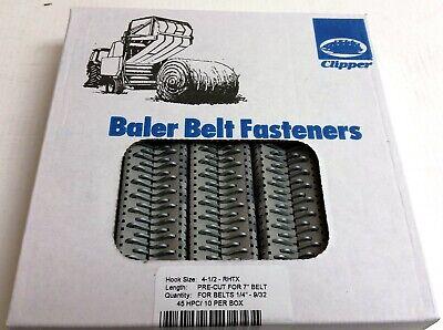 Clipper Belt Hook Lacing Baler Belt Repair Fasteners 4-12 Round Tensile