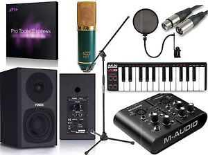 MTRACK PLUS Pro Tools Express Home Recording Studio Package Bundle V67G