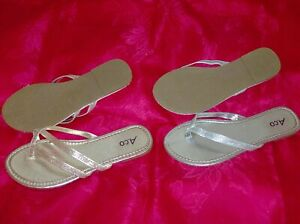 2 NEW Pairs of Size 7 Womens Sandals + New Celebrity  Purse
