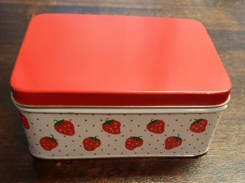 Vintage Rectangular Strawberry and Dots