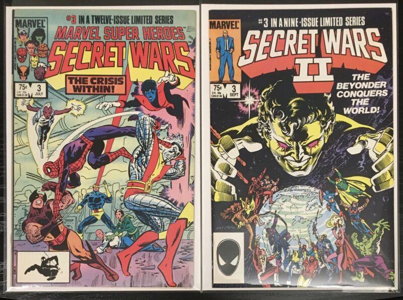 Secret Wars 3 ( 1st Volcana & New Titania ) & Secret Wars II 3 ( 1st Beyonder )
