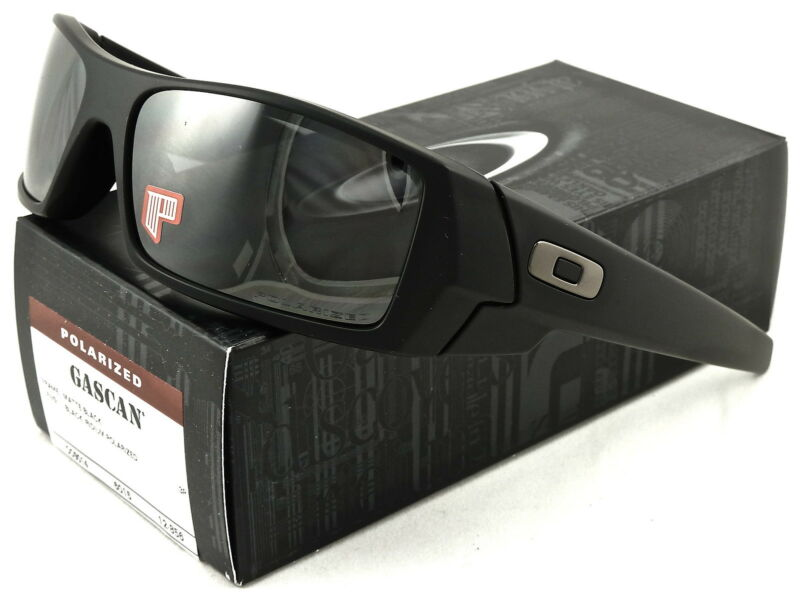 NEW Oakley Gascan Sunglasses Matte Black l Black Iridium Polarized 12-856