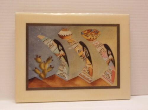 """Lawrence Vargas Southwest """"Harvest Maidens""""  Ceramic Tile 8 1/4 X 6 1/4"""""""
