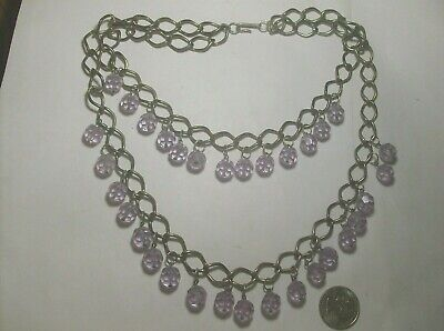 1950s Jewelry Styles and History SUPER 2 STRAND GLASS NECKLACE-----1950,s------VINTAGE $17.99 AT vintagedancer.com