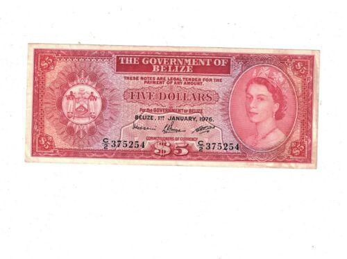 BELIZE  1976  5 DOLLARS  PB2