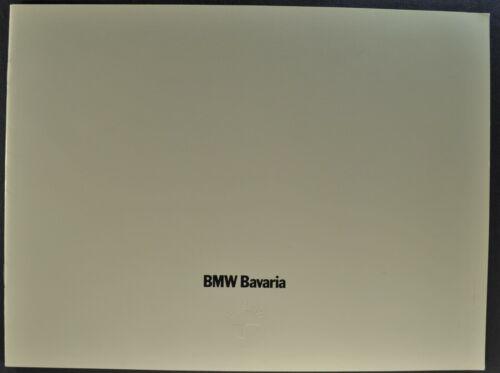 1972 BMW Bavaria Catalog Sales Brochure Sedan Excellent Original 72