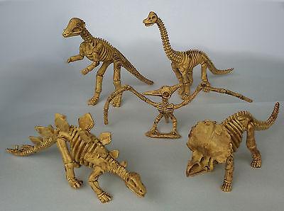5 Dinosaurier Dino Skelett im Set Urzeittiere Spielzeug Flugsaurier Figuren