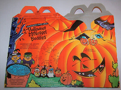 Vintage 1993 Halloween McNugget Buddies McDonald's Happy Meal Lunch Box - Halloween 1993