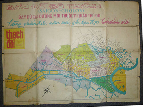 SAIGON - CITY MAP - VIETNAM WAR - CHOLON - Late 1950