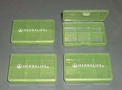 HERBALIFE - 4 SMALL TRAVEL PILL TABLET BOXES (6 Compartment Box) & 60
