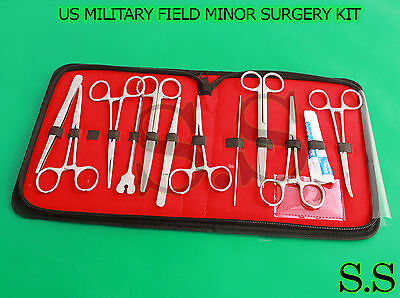 53 Pc Us Military Field Minor Surgical Instruments Kit 50 Set Ds-1015