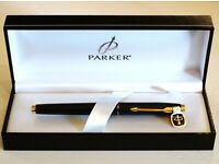 181 Epoxy Matt Black Fine Fountain Pen with Gold Trim Baoer No
