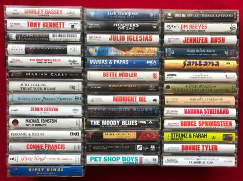 Lot of 40 Cassette Tapes Soft Rock Pop 90s Pet Shop Boys Gipsy Kings Moody Blues