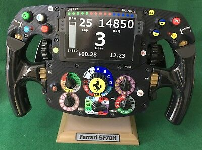 Used, Vettel Raikkonen FULL SIZE replica Ferrari steering wheel 2017_F1 for sale  Shipping to United States