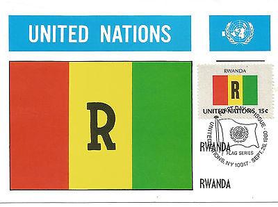 UN Flag Series Maximum Card Rwanda Ruanda 218