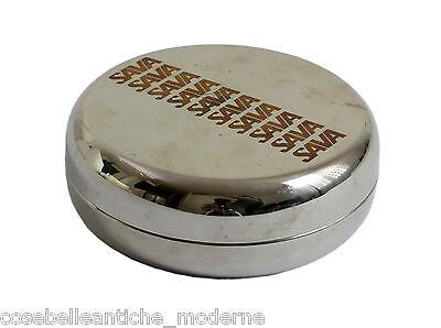 Service Vide-poches SAVA avec Assiette carré en Métal Space Age Boîte '60/70