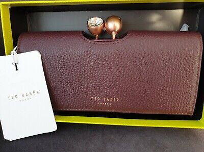 TED BAKER MAROON SOLANGE BOBBLE PURSE NEW