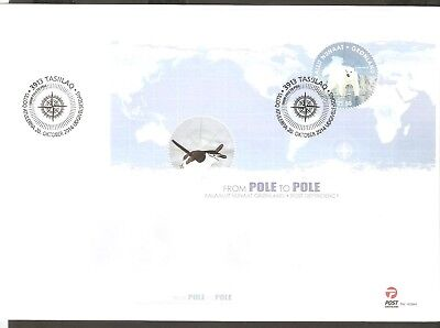 2014    GREENLAND  -  SG  MS 752  -  POLE TO POLE  - JOINT ISSUE  -- FDC