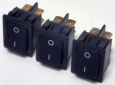 Lot Of 3 T10555 T-series Rocker Switch Snap-in Panel Mount 125-250 Vac 16a