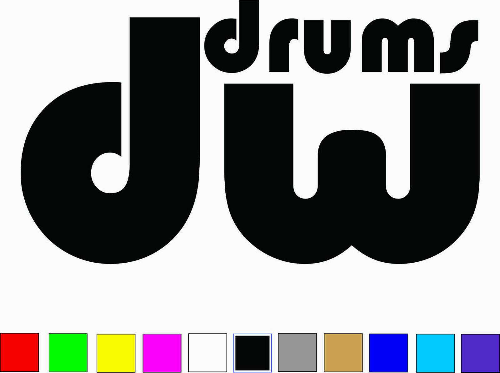 Home Decoration - DW DRUMS Logo Vinyl Decal Die Cut Sticker