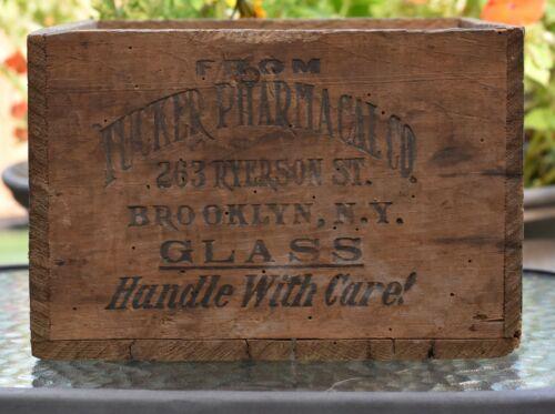 Vintage Wood Medicine Box Crate Tucker Pharmacal Co Brooklyn, N.Y.