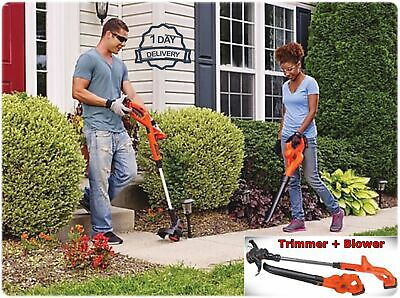 Cordless Weed Eater Powered Leaf Blower Combo Kit Yard Tool