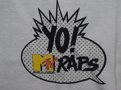 YO! MTV RAPS T-shirt vintage 80s/90s hip hop rakim Dr Dre Ed Lover tupac M/L
