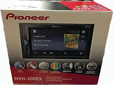 Pioneer Mvh 200Ex Double Din Bluetooth In Dash Digital Media Car Stereo New 2018