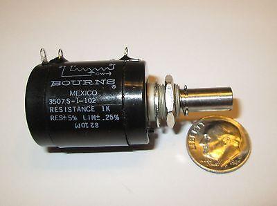 Bourns 3507s-1-104 100k Ohm 10-turn 2w Wire Wound Potentiometer Refurb.