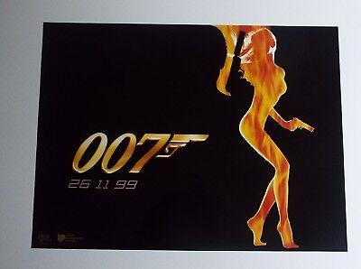James Bond The World Is Not Enough Advance Version 1 UK Mini Quad Cinema Poster