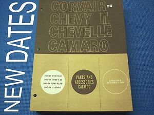 Camaro Chevelle Parts Catalog 60-69 Feb May July print