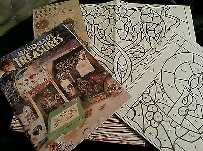 Plaid Handmade Treasures Kit Instructions, Stencils Patterns Teaching Guide ONLY for sale  Surbiton