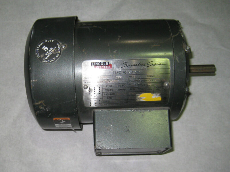 NEW LINCOLN ELECTRIC MOTOR HP 1 230/460 VOLTS TF5342