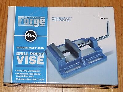 New In Box Central Forge 4 In. Cast Iron Drill Press Vise