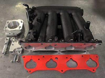 2012 15 Civic Si Black Rbc Intake Manifold Swap Kit W  Zdx Throttle Body Adapter