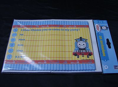 THOMAS AND FRIENDS party invitations pack of 20](Thomas And Friends Invitations)