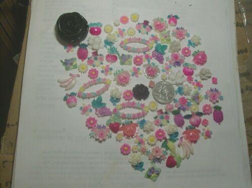 CELLULOID FLAT FLOWER & FRUIT---NEVER USED--FOR CRAFTS---1920,s--#12----VINTAGE